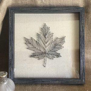 Retro String Art of Maple Leaf Framed